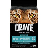 Crave with Protein from Salmon & Ocean Fish Adult Grain-Free Dry Cat Food, 4-lb bag