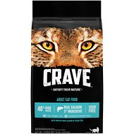 Crave with Salmon & Ocean Fish Adult High-Protein Grain-Free Dry Cat Food, 10-lb bag