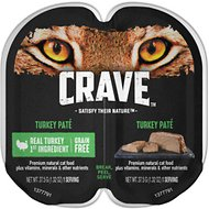 Crave Turkey Pate Grain-Free Cat Food Trays, 2.6-oz, case of 24 twin-packs