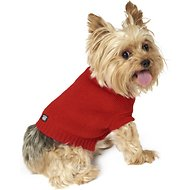 PetRageous Designs Baxter's Basic Dog & Cat Sweater, Red, X-Small