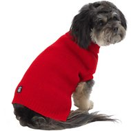 PetRageous Designs Baxter's Basic Dog & Cat Sweater, Small, Red
