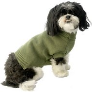 PetRageous Designs Baxter's Basic Dog & Cat Sweater, Small, Sage