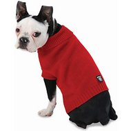 PetRageous Designs Baxter's Basic Dog & Cat Sweater, Red, Medium