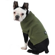 PetRageous Designs Baxter's Basic Dog & Cat Sweater, Medium, Sage