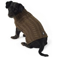 PetRageous Designs Marley's Cable Knitted Dog & Cat Sweater, Small, Mocha