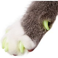 Purrdy Paws Soft Cat Nail Caps, 40 count, Small, Ultra Glow in the Dark