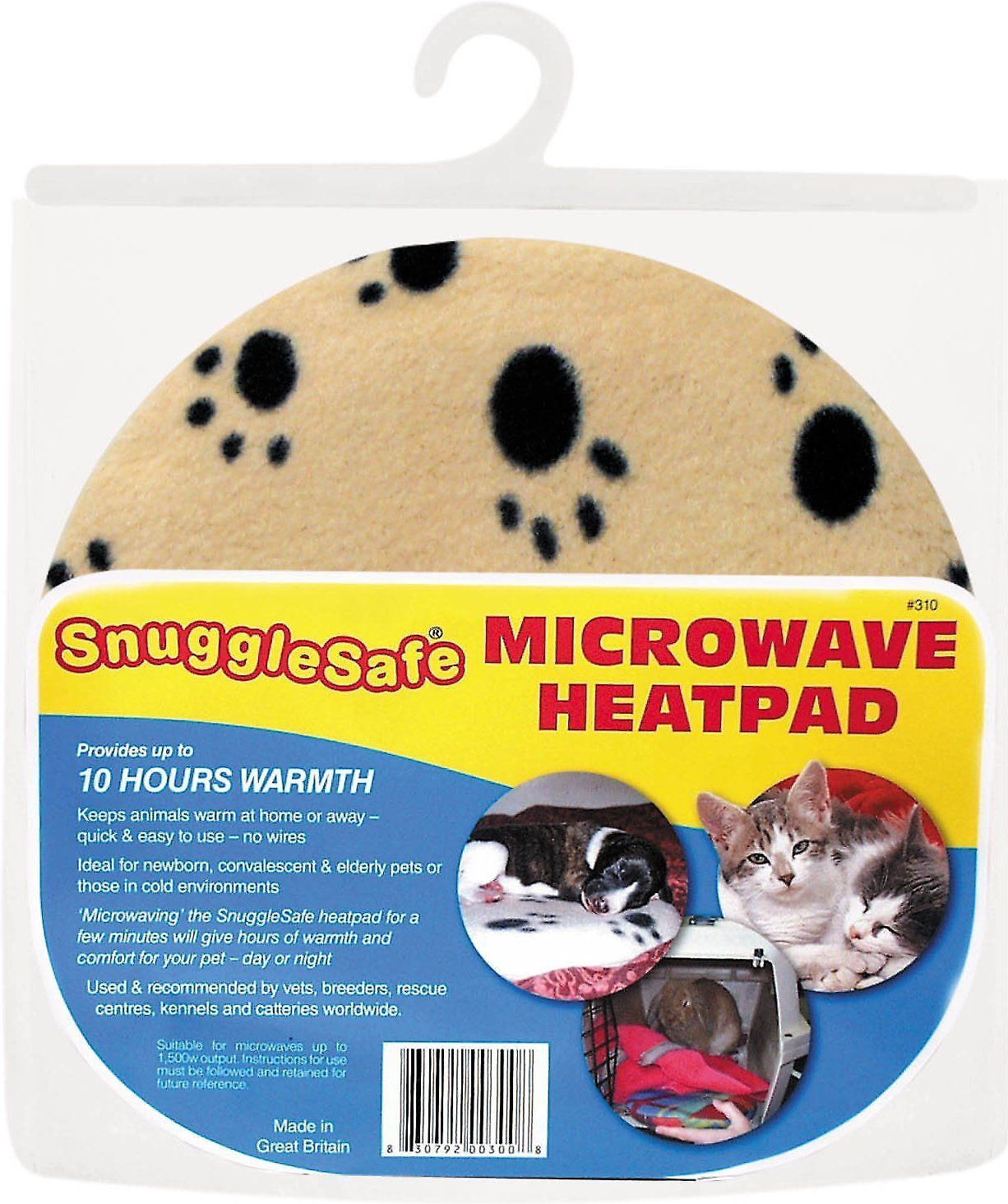 Snuggle Safe Dog Cat amp Small Animal Microwave Heat Pad