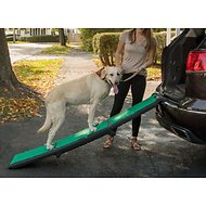 Pet Gear Travel Lite Tri-Fold Dog & Cat Ramp with SupertraX, Black/Green