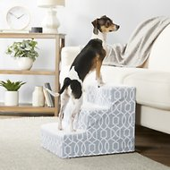 Pet Gear Trellis Print Designer Step III Dog & Cat Stairs, Spa Blue