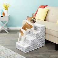 Pet Gear Trellis Print Designer Step IV Dog & Cat Stairs, Stormy Grey