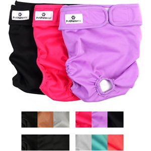Pet Parents Washable Male & Female Dog Diapers, Princess, X-Small: 4 to 10-in waist, 3 count
