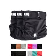 Pet Parents Washable Dog Diapers, 3-pack, Large, Black