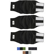 Pet Parents Belly Band Male Dog Wrap, 3-pack, Medium, Black