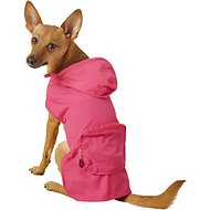 Fab Dog Travel Raincoat, Hot Pink Crab, Medium