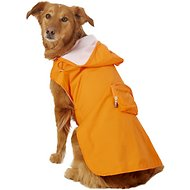 Fab Dog Travel Raincoat, XX-Large, Orange Crab