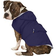 Fab Dog Travel Raincoat, Navy Argyle, X-Large