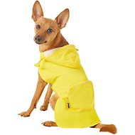 Fab Dog Travel Raincoat, Yellow Argyle, Medium