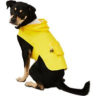 Fab Dog Travel Raincoat, Yellow Argyle, Large