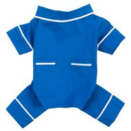 Fab Dog Poplin Dog Pajamas, Blue, Length 16-in