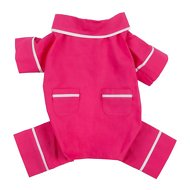 Fab Dog Poplin Dog Pajamas, Pink, Length 12-in