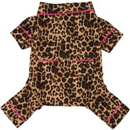 Fab Dog Leopard Dog Pajamas, Back Length 20-in