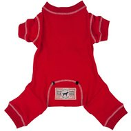 Fab Dog Thermal Dog Pajamas, Red, Back Length 8-in