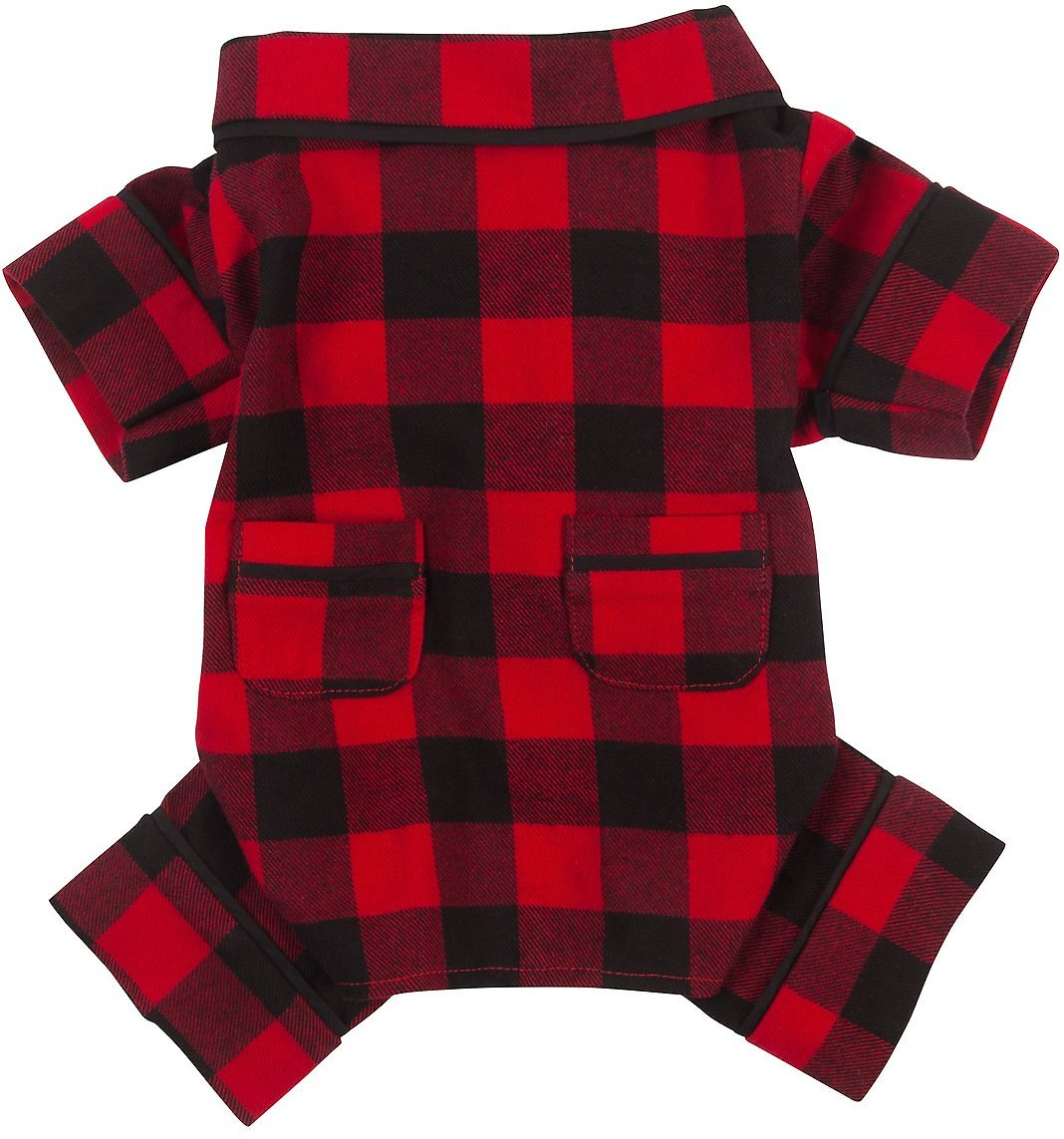 c3d722ed Fab Dog Buffalo Check Dog Pajamas, Back Length 8-in