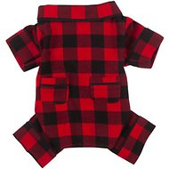 Fab Dog Buffalo Check Dog Pajamas, Back Length 8-in
