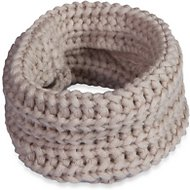 Fab Dog Infinity Dog & Cat Scarf, Oatmeal, X-Small/Small