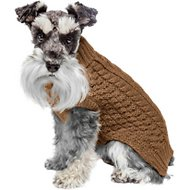 Fab Dog Super Chunky Turtleneck Dog Sweater, Camel, 8""