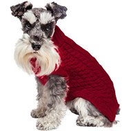 Fab Dog Super Chunky Turtleneck Dog Sweater, Red, 16""