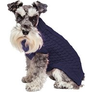 Fab Dog Super Chunky Turtleneck Dog Sweater, Navy, 14""