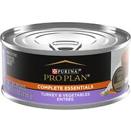 Purina Pro Plan Classic Turkey & Vegetable Entree Grain-Free Canned Cat Food, 5.5-oz, case of 24