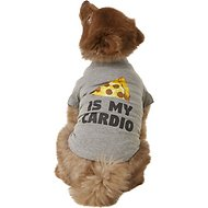 "Fab Dog ""Pizza Is My Cardio"" Dog & Cat T-Shirt, 8-in"