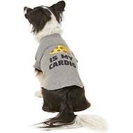 "Fab Dog ""Pizza Is My Cardio"" Dog & Cat T-Shirt, 16-in"