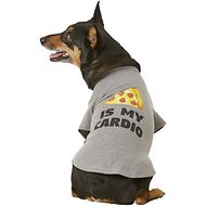 "Fab Dog ""Pizza Is My Cardio"" Dog & Cat T-Shirt, 18-in"