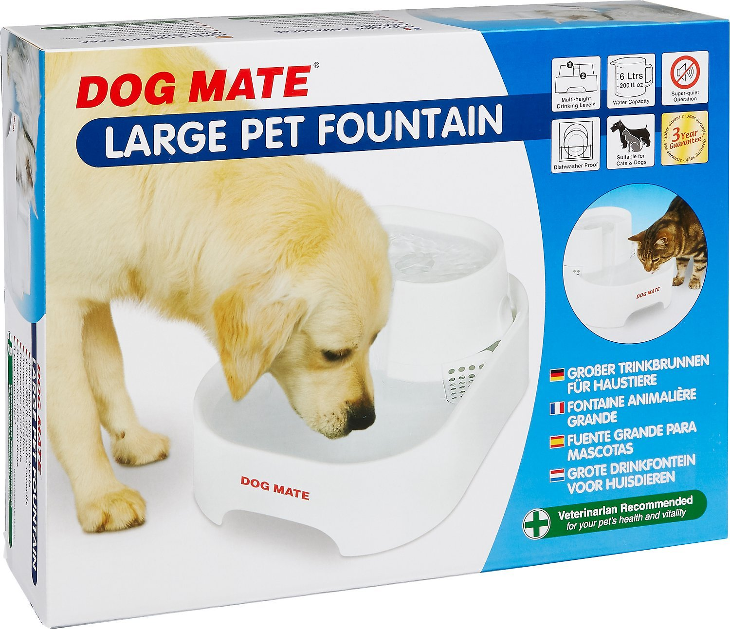 Dog Mate Large Fresh Water Drinking Fountain For Dogs And Cats Cat Supplies