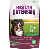 Health Extension Large Bites Chicken & Brown Rice Recipe Dry Dog Food, 1-lb bag