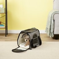 Pawfect Pets Premium Soft Sided Dog & Cat Travel Carrier, Charcoal Grey