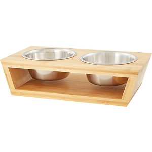 Pawfect Pets Premium Non-Skid Elevated Dog & Cat Bowl, 2.5-cup