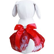 Tail Trends Lace Dog Tutu, Red, Large