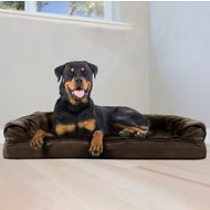 FurHaven Plush & Suede Orthopedic Sofa Dog & Cat Bed, Jumbo, Espresso