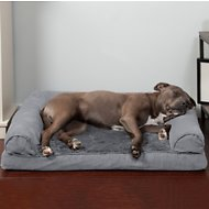 FurHaven Plush & Suede Orthopedic Sofa Dog & Cat Bed, Gray, Large