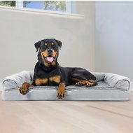 FurHaven Plush & Suede Orthopedic Sofa Dog & Cat Bed, Jumbo, Gray
