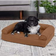 FurHaven Quilted Orthopedic Sofa Dog & Cat Bed, Warm Brown, Small