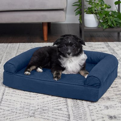 Surprising Furhaven Quilted Orthopedic Sofa Dog Cat Bed Navy Small Gmtry Best Dining Table And Chair Ideas Images Gmtryco