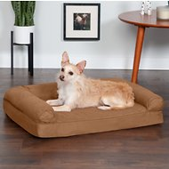 FurHaven Quilted Orthopedic Sofa Dog & Cat Bed, Warm Brown, Medium