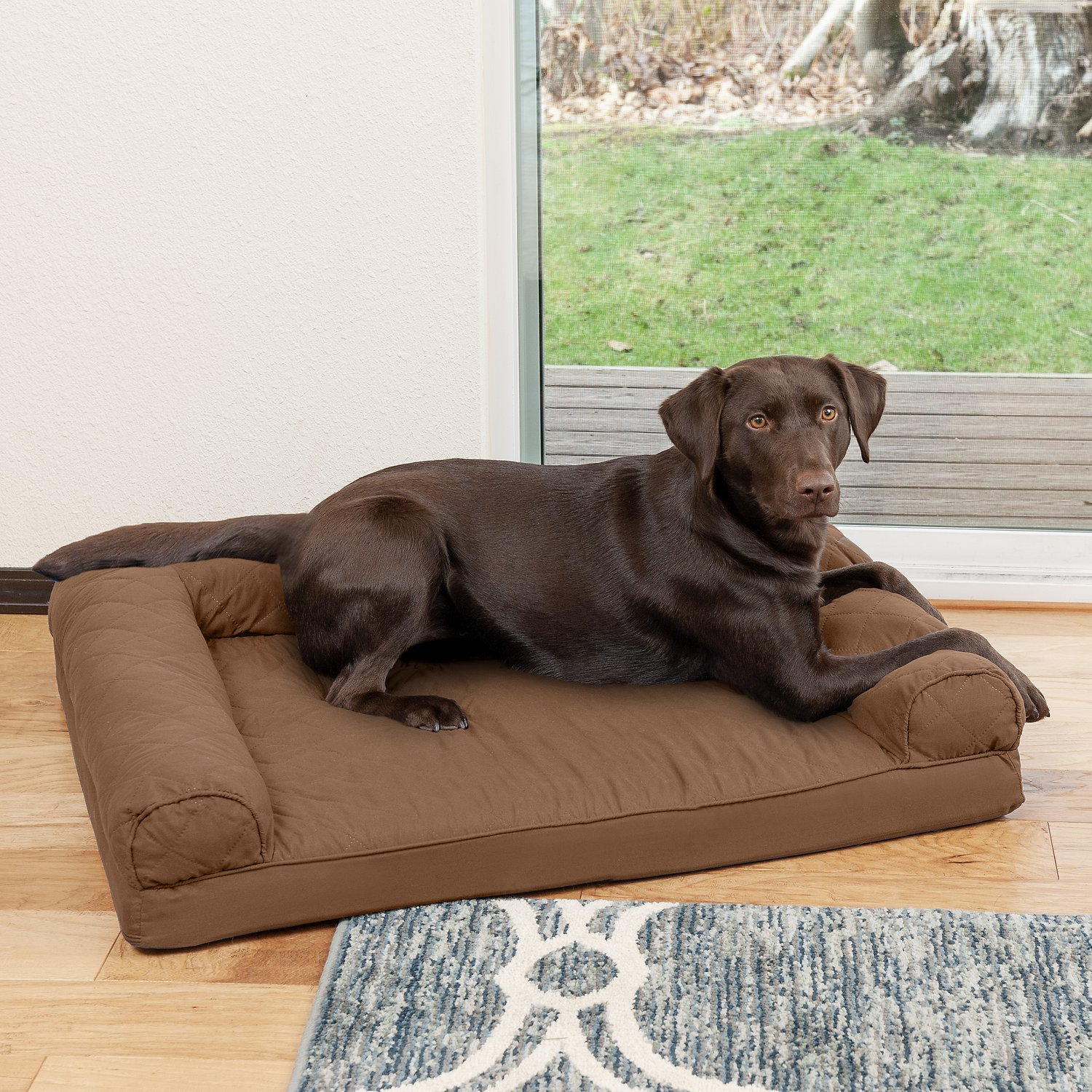 FurHaven Quilted Orthopedic Sofa Dog & Cat Bed