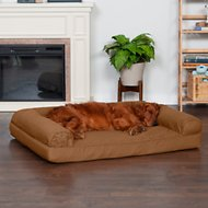 FurHaven Quilted Orthopedic Sofa Dog & Cat Bed, Warm Brown, Jumbo