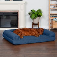FurHaven Quilted Orthopedic Sofa Dog & Cat Bed, Navy, Jumbo